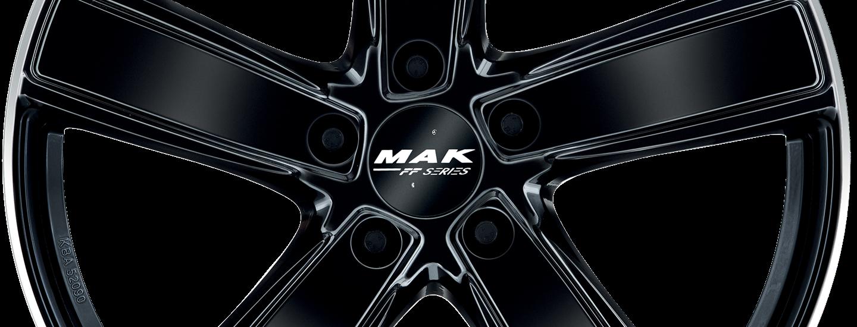 MAK Turismo FF D Gloss Black Mirror Ring Front