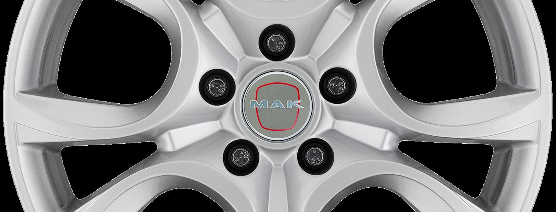 MAK Torino Silver 5 Holes Front