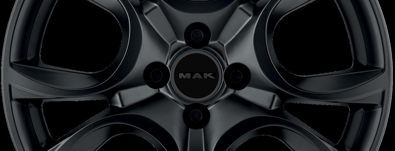 MAK Torino Matt Black 4 Holes Front