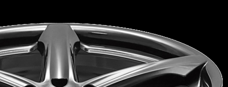 AEZ Yacht dark SUV alloy wheel five-spoke detail above