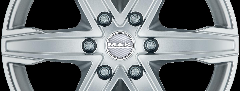 MAK King 6 Silver Front