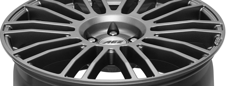 AEZ Strike graphite Leichtmetallfelge Detail von oben ganz