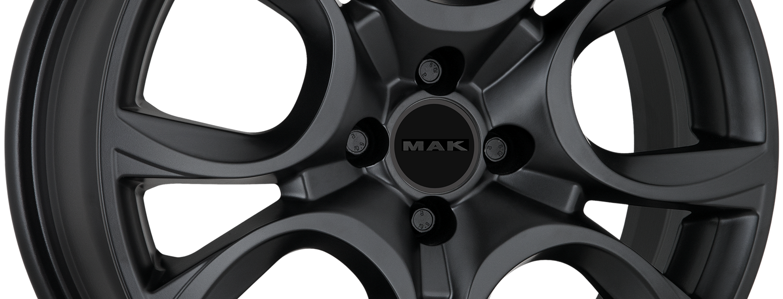 MAK Torino Matt Black 4 Holes Ant