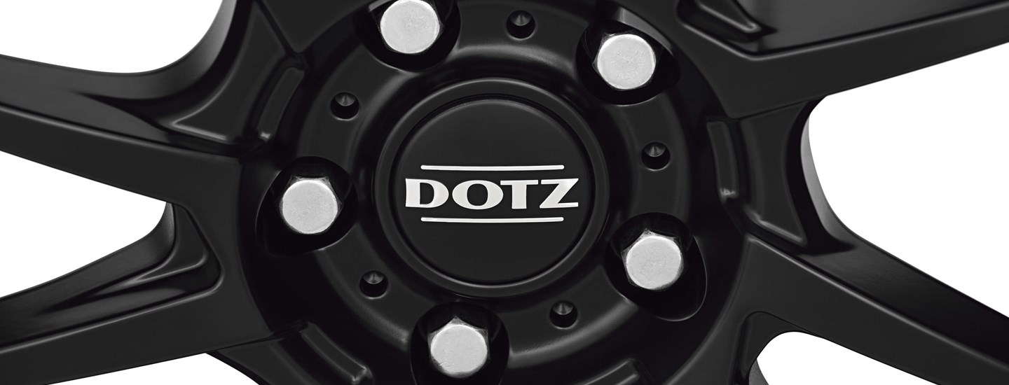 DOTZ Kendo dark alloy wheel black centre cap