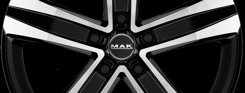 MAK Stone 5 Black Mirror Front
