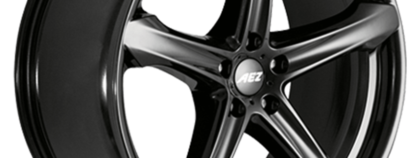 AEZ Yacht dark alloy wheel extreme side
