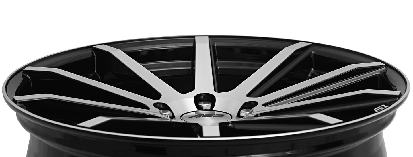 AEZ Straight alloy wheel rim lip AEZ stamp