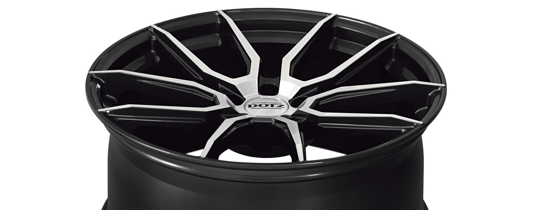 DOTZ Misano dark alloy wheel double-spoke full above