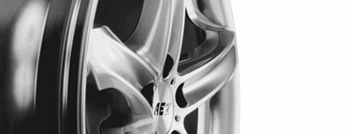 AEZ Yacht alloy wheel five-spoke detail side