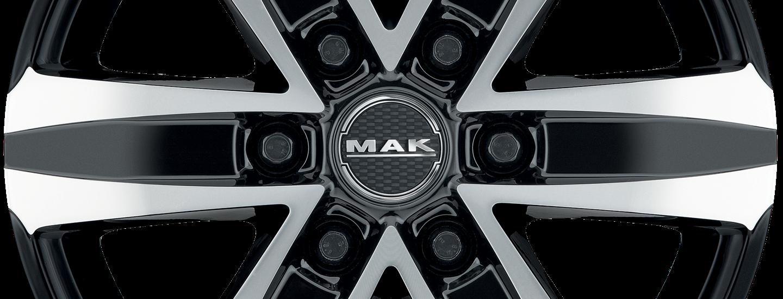 MAK Stone 6 Black Mirror Front