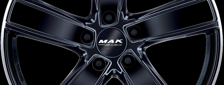 MAK Turismo FF Gloss Black Mirror Ring Front